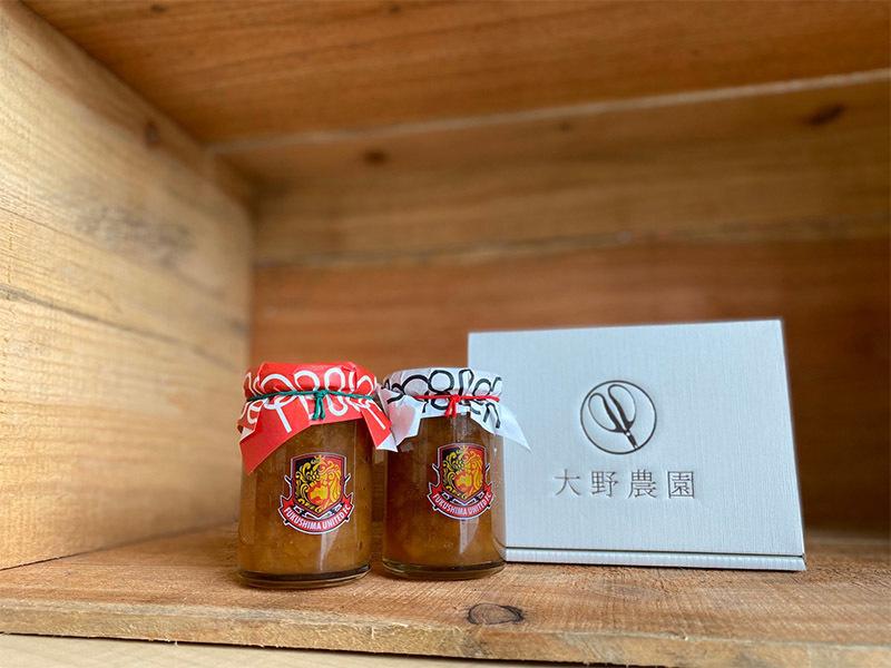 福島ユナイテッドFC×大野農園_りんごジャム&りんごバニラジャムセット